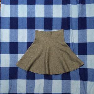 New! Zara Knit Flare Grey Skirt Small